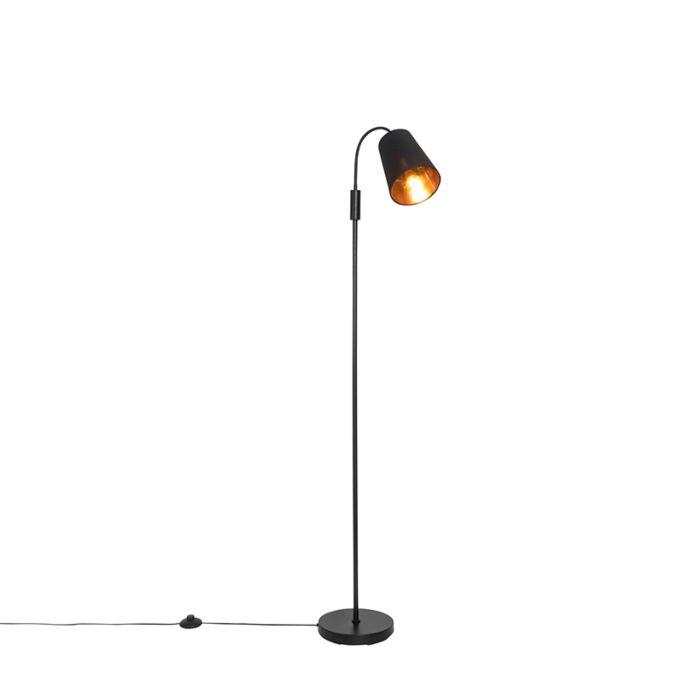 Moderne-vloerlamp-zwart---Carmen