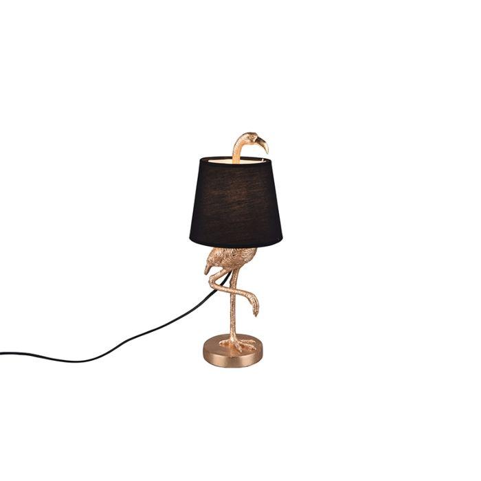 Landelijke-tafellamp-goud-met-zwart---Koen