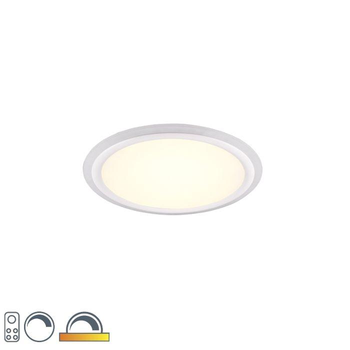 Plafondlamp-wit-50-cm-incl.-LED-RGB-afstandsbediening---Anke