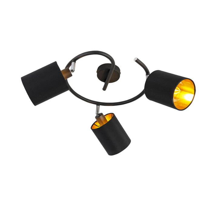 Smart-moderne-plafondlamp-zwart-incl.-3-WiFi-B35---Lofty