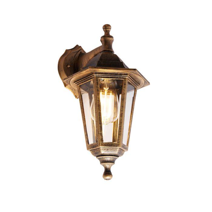 Antieke-buiten-wandlamp-goud-IP44---New-Haven