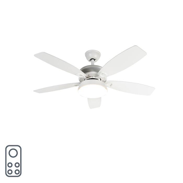 Plafondventilator-wit-met-afstandsbediening-incl.-LED---Malaki