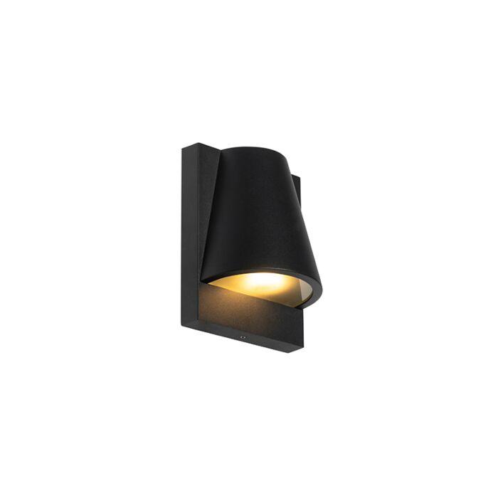 Industriële-buiten-wandlamp-zwart-IP44---Femke