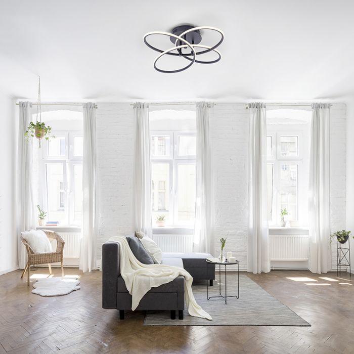 Design-plafondlamp-zwart-incl.-LED---Nodi