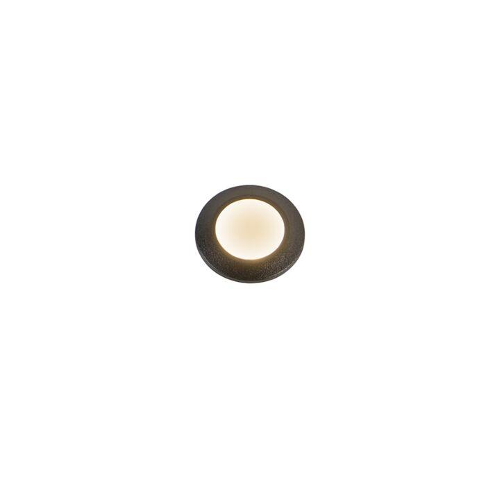 Moderne-inbouwspot-zwart-incl.-LED-IP67-3000K---Teresa