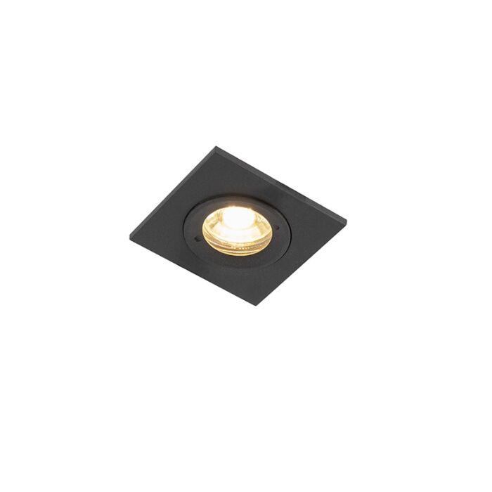 Smart-inbouwspot-zwart-vierkant-IP44-incl.-Wifi-GU10---Xena