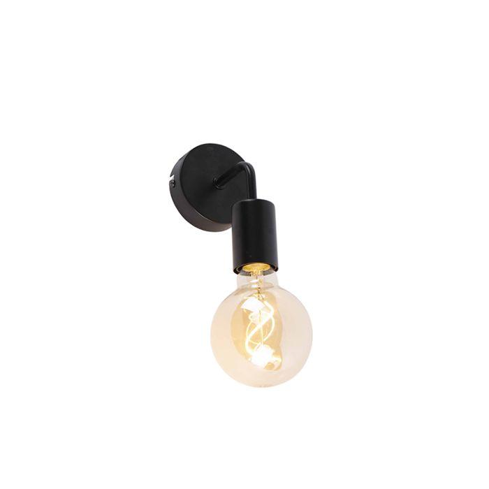 Moderne-wandlamp-zwart-15,5-cm---Facile