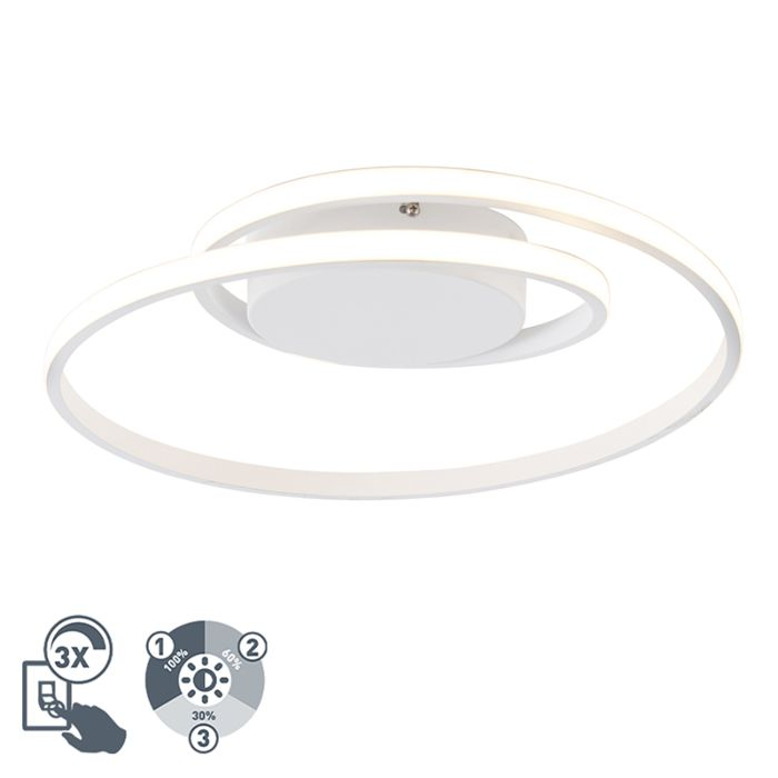 Design-plafonnière-wit-incl.-LED-3-staps-dimbaar---Krula