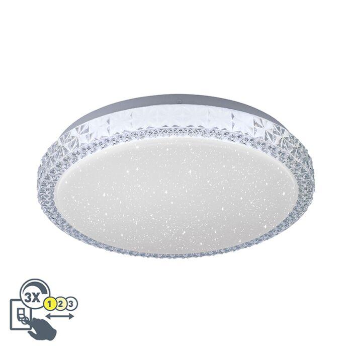 Plafonnière-wit-30-cm-incl.-LED-dimbaar-met-sterrenhemel---Jona