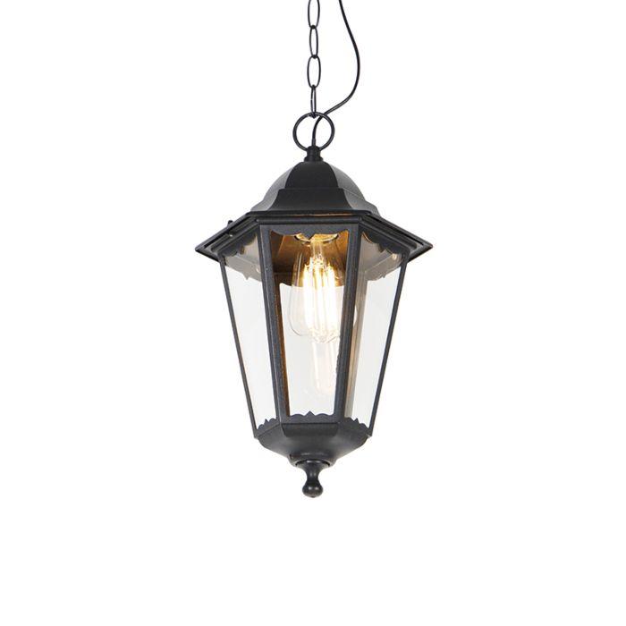 Klassieke-buiten-hanglamp-zwart-IP44---New-Orleans-Up