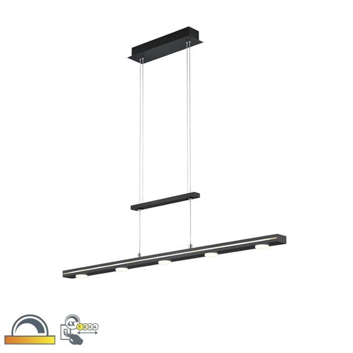 Hanglamp-zwart-incl.-LED-met-touch-3-staps-dimbaar---Sanne