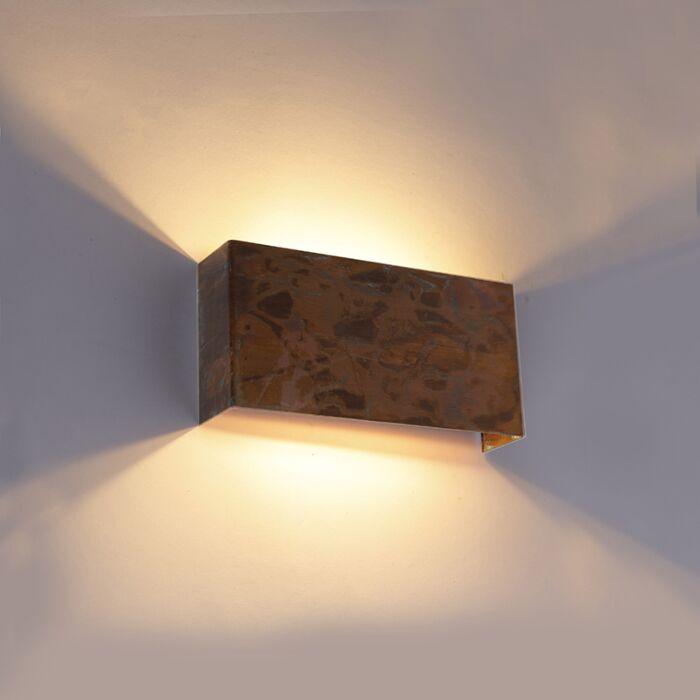 Industriële-wandlamp-koper-2-lichts---Justin