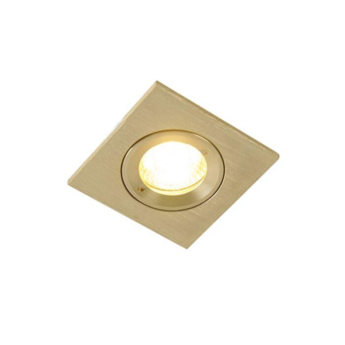 Moderne-inbouwspot-goud-IP44---Xena-Square
