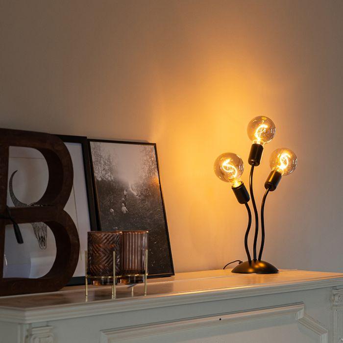 Design-tafellamp-zwart-3-lichts---Wimme