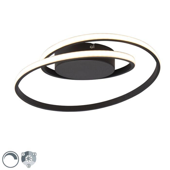 Design-plafonnière-zwart-incl.-LED-3-staps-dimbaar---Krula