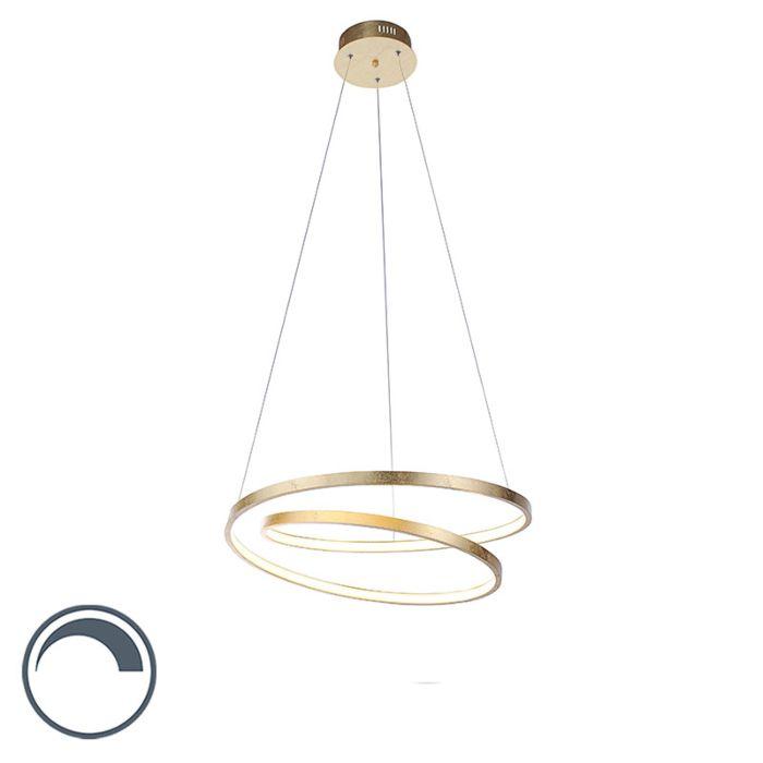 Design-hanglamp-goud-55-cm-incl.-LED-dimbaar---Rowan