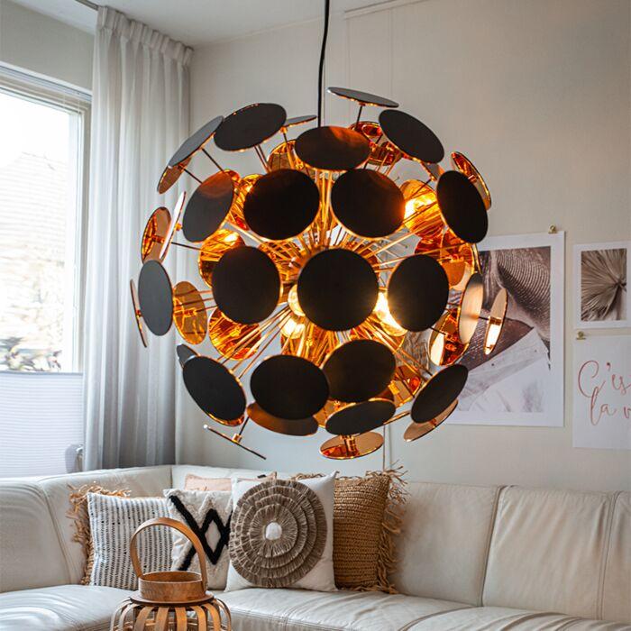 Design-hanglamp-zwart-met-goud---Cerchio