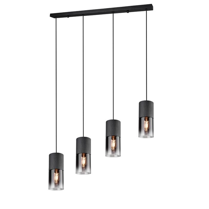 Moderne-hanglamp-zwart-4-lichts---Huygen