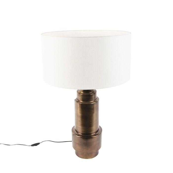 Art-deco-tafellamp-met-kap-wit-50-cm---Bruut
