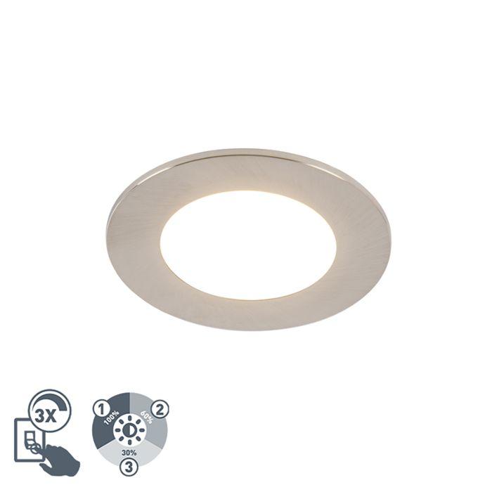 Moderne-inbouwspot-staal-incl.-LED-3-staps-dimbaar-IP65---Blanca