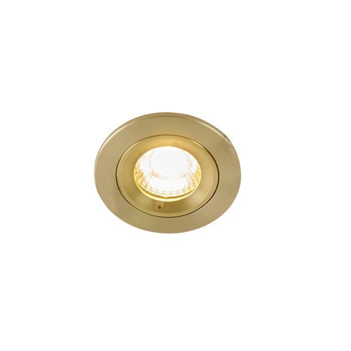 Moderne-inbouwspot-goud-7,8-cm-IP44---Xena-Round