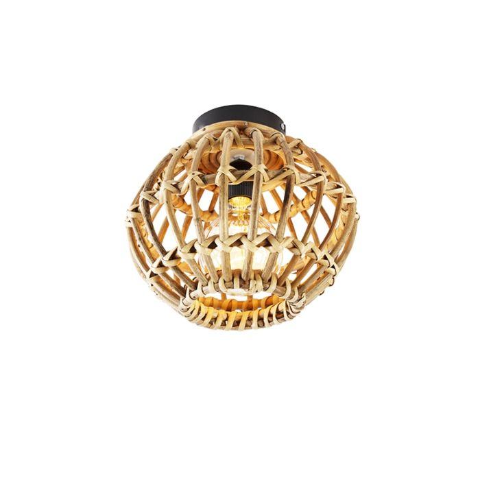Landelijke-plafondlamp-bamboe-25-cm---Canna
