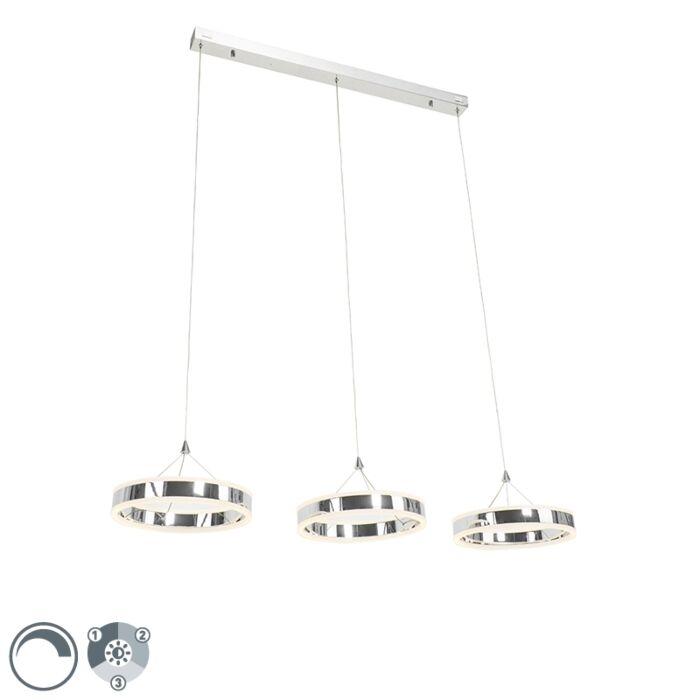Hanglamp-chroom-incl.-LED-3-staps-dimbaar-3-lichts---Lyani