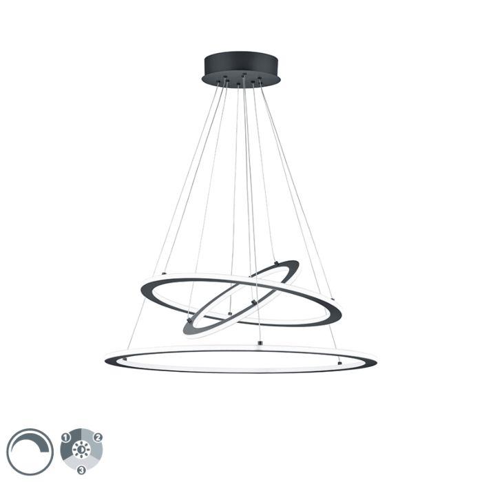 Hanglamp-grijs-incl.-LED-3-staps-dimbaar-3-lichts---Tijn