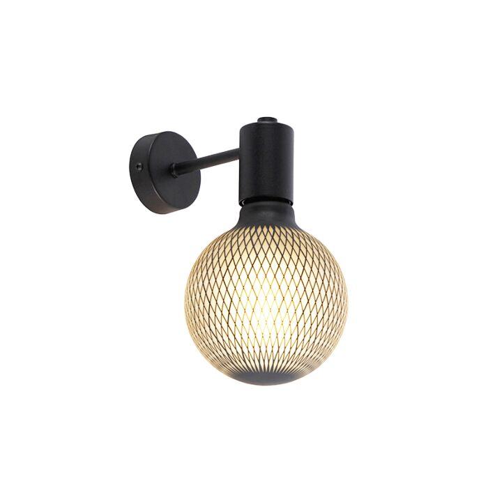 Industriële-wandlamp-zwart-incl.-G125-DECO-180lm---Facil-1