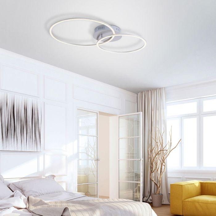 Plafondlamp-wit-incl.-LED-en-dimbaar-2-lichts---Julka