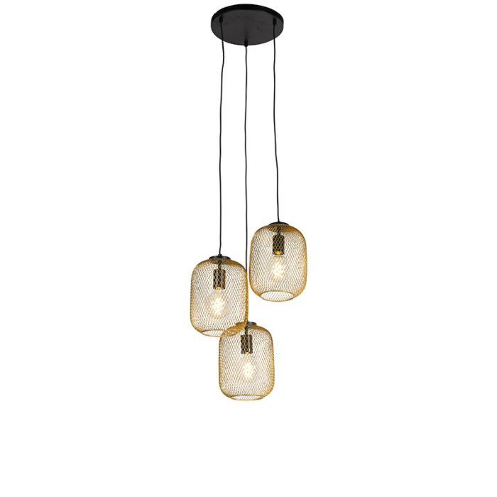 Art-Deco-hanglamp-goud-45-cm-3-lichts---Bliss-Mesh