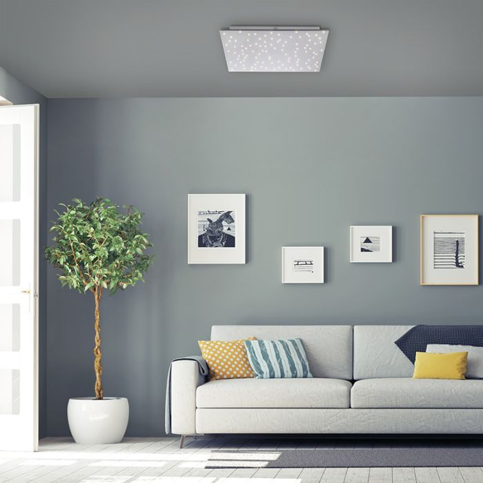 Design-plafonnière-wit-met-ster-effect-45-cm-incl.-LED---Lucci