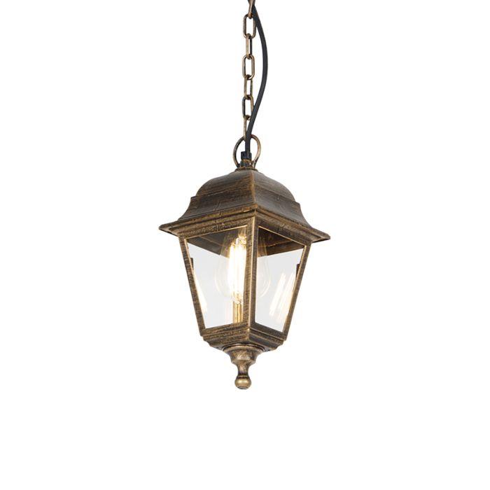 Klassieke-buiten-hanglamp-antiek-goud-IP44---Capital