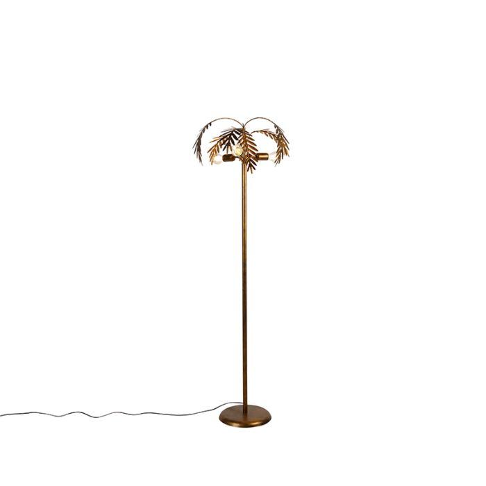 Vintage-vloerlamp-goud-3-lichts---Botanica
