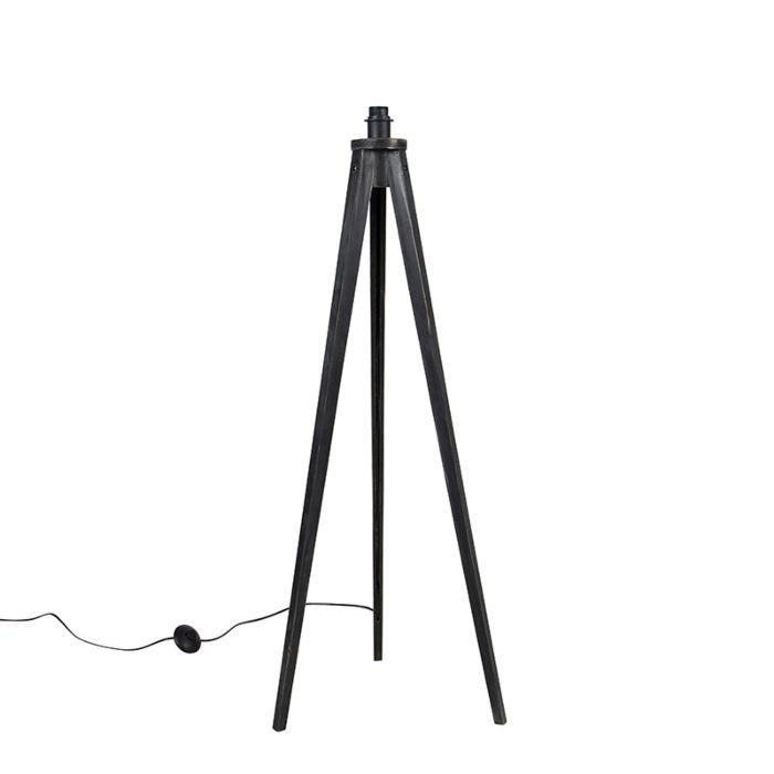 Landelijke-vloerlamp-tripod-zwart---Tripod-Classic