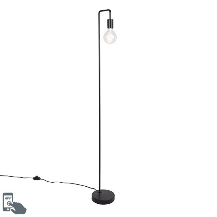 Smart-vloerlamp-zwart-incl.-WiFi-G125---Facil