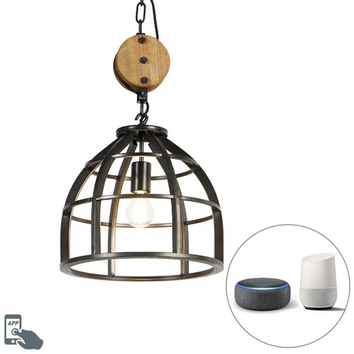 Smart-hanglamp-zwart-34,5-cm-incl.-WiFi-A60---Arthur