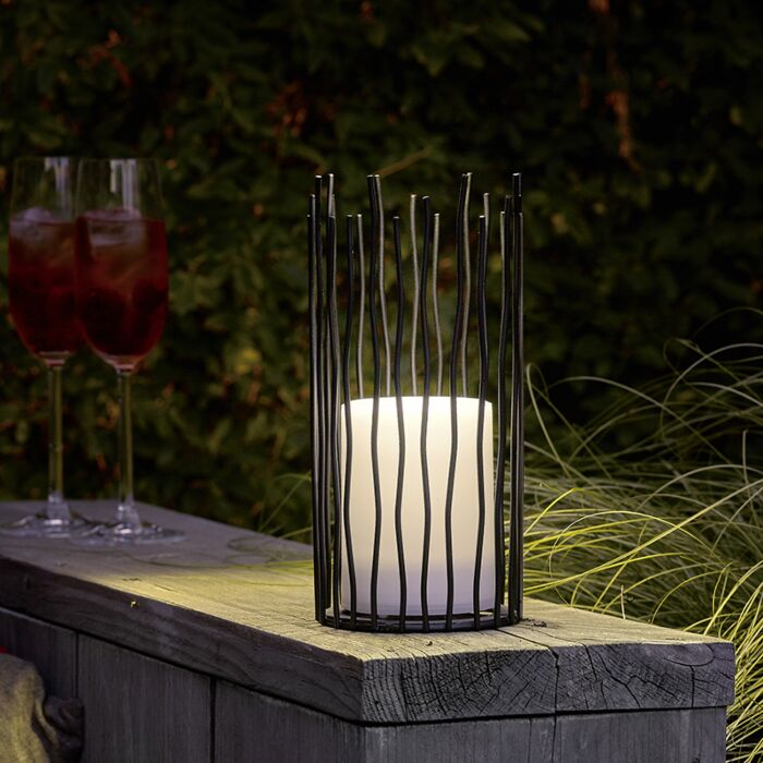 Tafellamp-met-flame-effect-incl.-LED-op-solar-IP44---Cordo