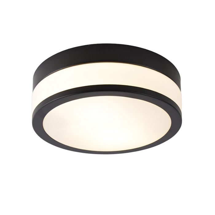 Klassieke-plafondlamp-zwart-28-cm---Flavi