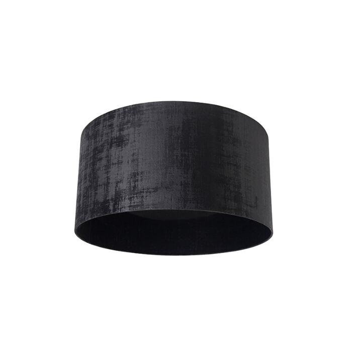 Velours-lampenkap-zwart-50/50/25