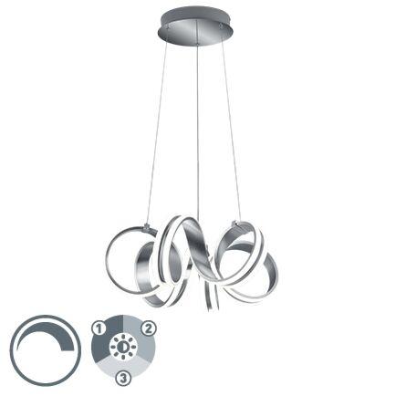Design-hanglamp-staal-3-staps-dimbaar-incl.-LED---Filum