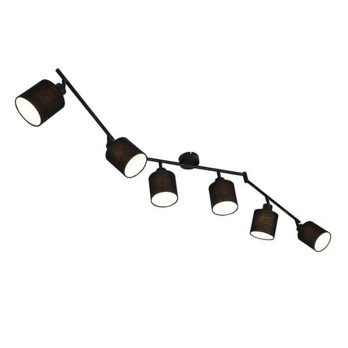 Moderne-spot-zwart-6-lichts-verstelbaar---Hetta