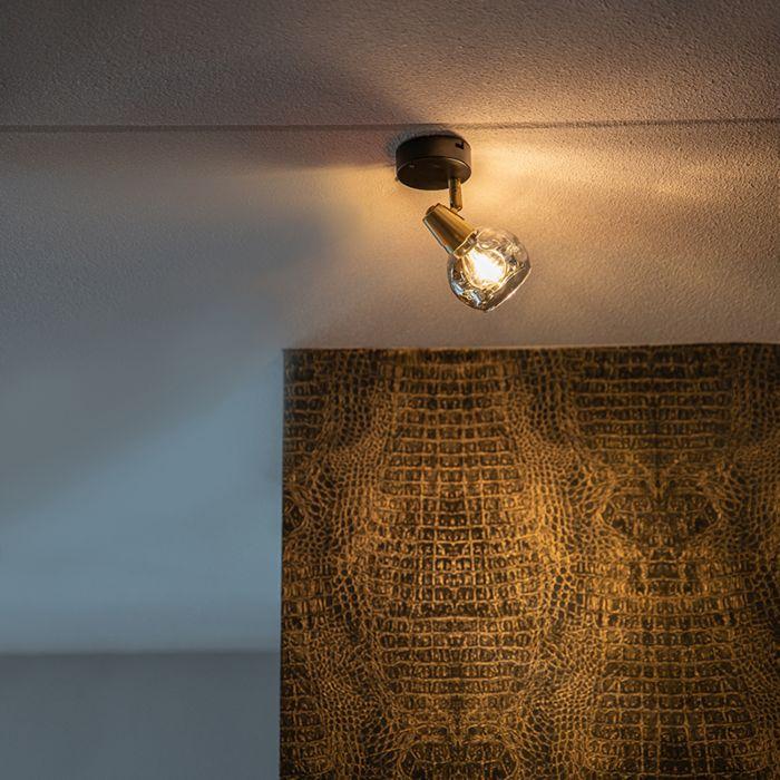 Art-Deco-spot-goud-met-smoke-glas---Vidro