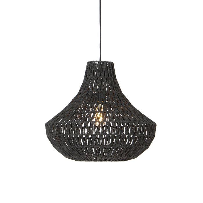Retro-hanglamp-zwart-50-cm---Lina-Cono