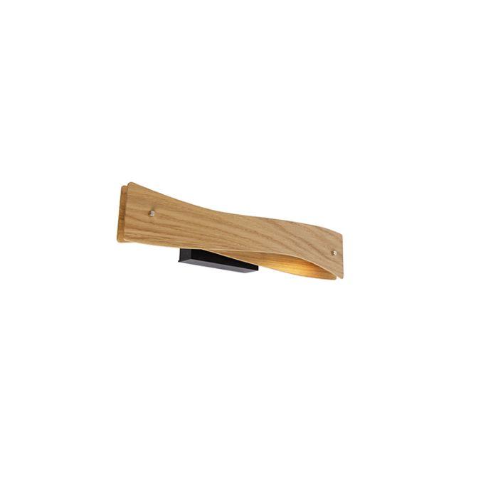 Moderne-wandlamp-hout-incl.-LED---Sjaak