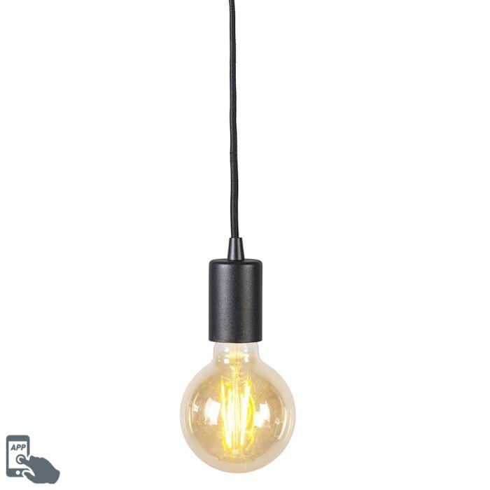 Smart-hanglamp-zwart-incl.-wifi-G95-lichtbron---Facil