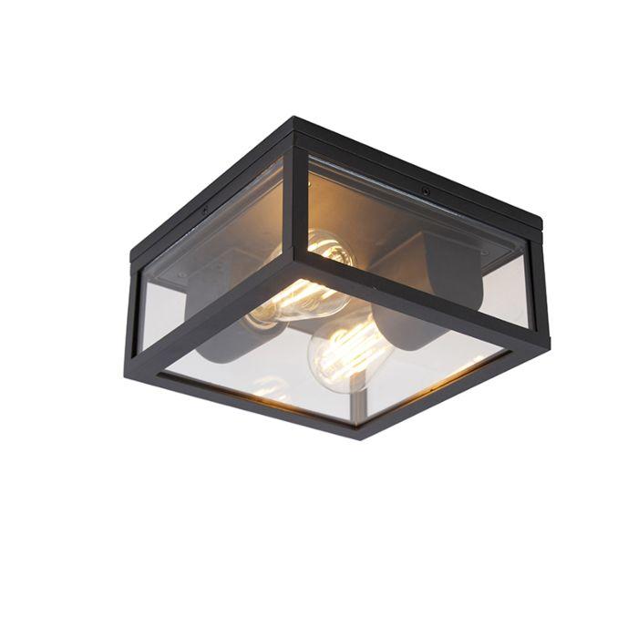 Industriële-plafondlamp-zwart-IP44---Charlois