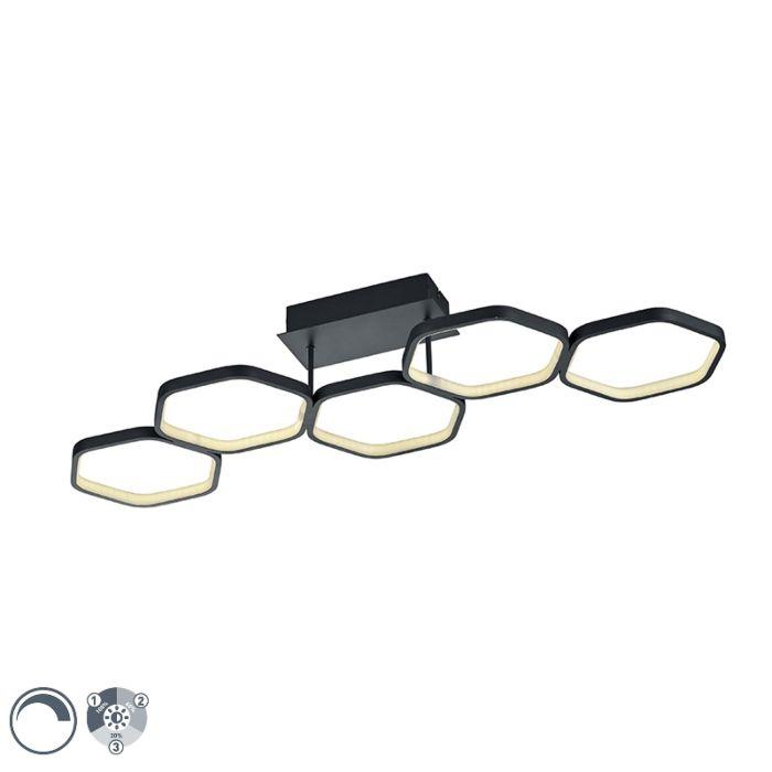 Plafondlamp-grijs-incl.-LED-3-staps-dimbaar---Jetse