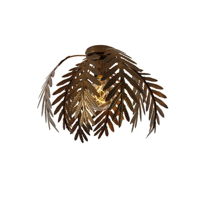 Vintage-plafondlamp-goud-8-bladen---Botanica