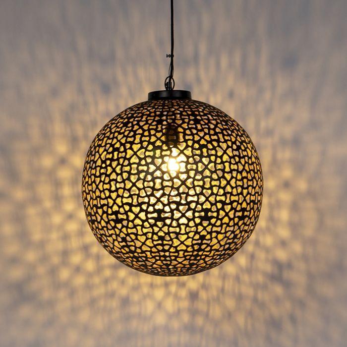 Oosterse-hanglamp-zwart-met-goud-45-cm---Radiante